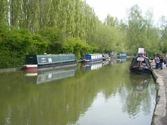 Canal boats by Campbell Park, Milton Keynes. (johnzebedee) Tags: boats canal miltonkeynes buckinghamshire grandunioncanal narrowboats johnzebedee