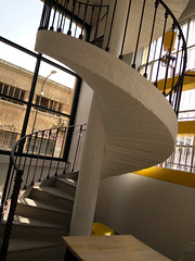 Spiral staircase, Fablab, Turin, Italy (gruntzooki) Tags: italy stairs torino italia it staircase turin makers fablab hackerspace hackspace makerspace torinofablab turinfablab