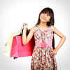 Shopping (Patrick Foto ;)) Tags: portrait people white cute girl beautiful beauty smile face childhood fashion female shopping bag asian fun thailand happy person one kid holding colorful pretty child looking little market sale expression joy young lifestyle happiness gift thai present customer concept cheerful joyful purchase isolated carrying buying shopper