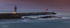 Lighthouse's - Dusk (paulosilva3) Tags: sunset seascape canon landscape eos lighthouses do little dusk chocolate porto lee douro filters foz stopper waterscape 6d polariser