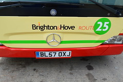 Brighton Bus (PD3.) Tags: park uk england bus london buses ahead mercedes benz coach brighton paint general metro hove centre go north group hampshire gateshead east 127 company route 25 dorset barton trim mal articulated 108 bendy psv pcv bendybus eastleigh metrocentre repaint hants goahead 5339 citaro x66 oxj mal108 bl57 bl57oxj