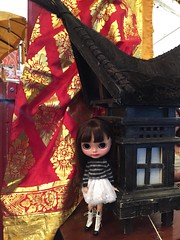 So I took my half asian mini me out to an Dutch Indonesian festival.. She felt right at home 😊