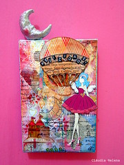 Happiness (* Cludia Helena * brincadeira de papel *) Tags: brazil brasil mixedmedia quadro canvas papermache papiermach cludiahelena