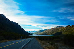 Taste like horse (peladomal ) Tags: road sky patagonia mountains argentina azul ruta clouds ro landscape carretera negro paisaje route estrada cielo nubes sur bariloche montaas rodovia rionegro surargentino