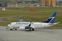 WestJet C-FZWS (V1 Aviation Photography) Tags: boeing westjet yyc b737 calgaryinternationalairport cyyc westjetairlines cfzws 73776nwl 737300wl