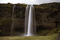 Downward flow (aerojad) Tags: longexposure travel nature landscape waterfall iceland cloudy dreary wanderlust southcoast seljalandsfoss daytimelongexposure thesouthcoast iceland2016