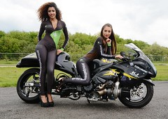 Principal Insurance Girls_2940 (Fast an' Bulbous) Tags: santa girls england woman hot sexy girl bike race speed pose drag promo pod model women track power outdoor fast babe chick turbo strip moto motorcycle biker suzuki hotty turbocharged ssb hayabusa prostreet superstreetbike principalinsurance garrybowe