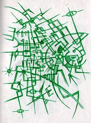 Framework in Green (darksaga66) Tags: art doodle tangle penandink inkart bookofink