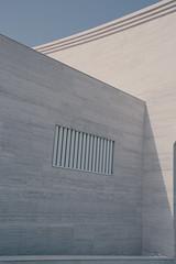 (orwa_farran) Tags: city nyc blue shadow sky blackandwhite white building art colors field lines architecture stairs studio landscape la artist outdoor geometry stadium horizon line depth doha qatar katara