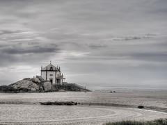 Senhor da Pedra (JG - Instants of light) Tags: sea praia beach portugal religious mar chapel cult land fujifilm terra miramar culto religioso