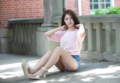 DP1U4156 (c0466art) Tags: blue school light portrait white hot nature girl female canon high nice asia slim pants jean skin outdoor quality gorgeous young figure charming pure  1dx c0466art