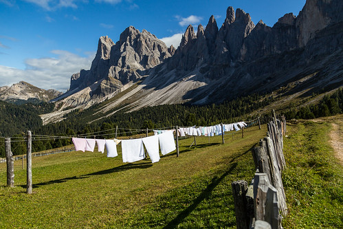 Laundry day in the Dolomites