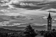 Maggiate, giugno 2016 (Mattia Pianca) Tags: summer sky blackandwhite white mountain black mountains tree church monochrome june fog alberi clouds montagne lens landscape mono monocromo landscapes nikon italia nuvole estate f14 85mm awsome chiesa campanile chrome cielo e tele nikkor nebbia 85 montagna bianco nero paesaggio biancoenero itlay 2016 d90 samyang skyporn samyang85mm