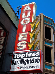 Augie's, Minneapolis, MN (Robby Virus) Tags: minnesota sign bar club women adult minneapolis strip alcohol topless signage mens booze cabaret nudity augies
