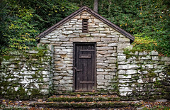 Pump House No. 1, Babcock State Park (KRHphotos) Tags: door nature architecture landscape westvirginia stonewall babcockstatepark