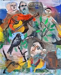 Figure with a Blackbird (@MikeQuirke) Tags: dawn guitar dusk plain blackbird prarie bigrock sapling cagoule searchparty