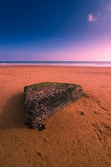 scars of war (cR0mi) Tags: ocean sky sun france beach nature rock landscape landscapes sand rocks ww2 normandy dday 1944 colleville naturephotography omahabeach collevillesurmer landscapephotography scarsofwar landscapelovers