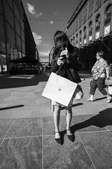 Street scenes (HKI DRFTR) Tags: life lighting urban blackandwhite girl monochrome sunshine contrast shadows candid snapshot streetphotography naturallight casual everyday tones decisivemoment spontaneous streetportraiture