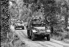 Convoy Leader (zoomerphil) Tags: white soldier army us war wwii half ww2 normandy convoy dday halftrack