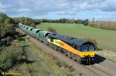 66847 Bagworth 18-10-11 (benwheeler) Tags: bow lane mantle coalville freightliner colas bagworth railfreight 6z17 66847