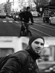 [La Mia Citt][Pedala] (Urca) Tags: portrait blackandwhite bw bike bicycle italia milano bn ciclista biancoenero mir bicicletta 2015 pedalare dittico nikondigitale 83927 ritrattostradale