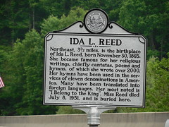 Ida L Reed Historic Marker (jimmywayne) Tags: historic westvirginia marker arden barbourcounty idalreed