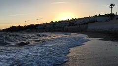 Mijas, Andalusia, Spain (Arran Bee) Tags: ocean costa sun beach evening twilight spain europe waves sundown dusk plus mijas iphone 16x9 6s