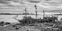 The Black Pearl.jpg (Stephen B Jessop) Tags: pirateship theblackpearl driftwood merseyside newbrighton