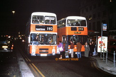 """Flash!"" (ah-ah...) (SelmerOrSelnec) Tags: bus night manchester leyland 192 parkroyal gmt olympian atlantean gmbuses northerncounties piccadillybusstation c179yba una831s"