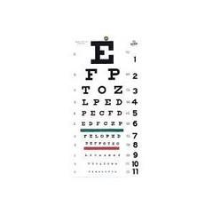 Grafco 1240 Snellen Hanging Eye Chart, 20' Distance, Non-Reflective, Matte Finish with Green and Red Color Bar (discoverdoctor) Tags: chart color green finish hanging distance matte 1240 snellen grafco nonreflective