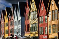 Norvge. Quartier de Bryggen  Bergen. (leonhucorne) Tags: travel colors port nikon couleurs faades maisons bergen bryggen norvge d7000 flickrtravelaward