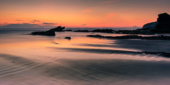 Coloured Sands (Sunset Snapper) Tags: longexposure sunset seascape beach beautiful june wales reflections sand nikon rocks lee nd lowtide filters grad pembrokeshire broadhaven afterglow 2016 2470mm colouredsands d810 sunsetsnapper littlestopper