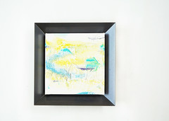 Kokoroiro (Framed) (2016) oil on canvas, coloured pencil  180x180mm (mayakonakamura) Tags: framed steel canvas frame oil watermark nakamura mayako mayakonakamura 180x180mm akihironakamura
