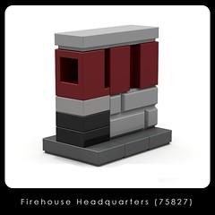 LEGO Brand Store - Ghostbusters, Firehouse Headquarters (75827) (Adeel Zubair) Tags: lego legostore legobrandstore store modular building moc mini micro microscale set ghostbusters headquarters firehouse america 75827
