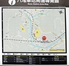 Badu, Taiwan (asterisktom) Tags: railroad train map taiwan rail february keelung badu 2016 trip20152016cambodiataiwan
