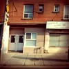 506 Carlton, Logan & Gerrard (grecomic) Tags: toronto streetphotography sidewalk mobilephone cellphonecamera hopperesque gerrardstreeteast abandonedstore retrocamera 506carlton gerrardste fudgecan