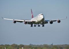 G-VROM (AnDrEwMHoLdEn) Tags: manchester airport virgin 747 virginatlantic manchesterairport egcc 05r