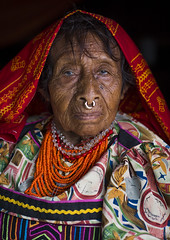 Panama, San Blas Islands, Mamitupu, Portrait Of An Old Kuna Tribe Woman (Eric Lafforgue) Tags: portrait people woman color latinamerica senior vertical photography necklace clothing community women colorful day dress adult native indian traditional culture jewelry tribal jewellery bead panama tribe ethnic cultures vacations beaded adultsonly oneperson kuna mola archipelago indigenous centralamerica customs ethnicity onepeople panamanian lifestyles headwear ecotourism ethnology indigenouspeople latinamerican cuna nosepiercing senioradult guna traditionalclothing traveldestinations onewomanonly lookingatcamera kunayala seniorwomen kunas waistup sanblasislands 1people onlywomen bodyadornment oneseniorwomanonly mamitupu animalrepresentation embroideredtextile kunatribe panama557