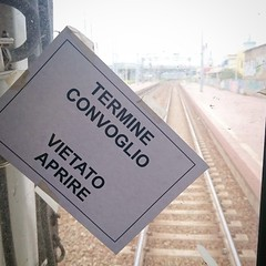 The end (Giacomo Denanni) Tags: train fine railway end treno termine vietato aprire convoglio