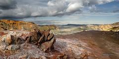 Basaltic bunch (yanis.fontana) Tags: sky cloud mountain lake field stone landscape volcano lava iceland path hell steam smell bunch sulfur lunar odour landmannalaugar sufur fumaroles basaltic
