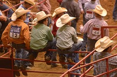 Waiting Their Turn (Get The Flick) Tags: cowboys fence georgia arena rodeo railing cowboyhat strawhats perryga georgiahighschoolrodeoassociation georgianationalfairgroundsandagricenter