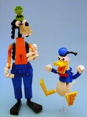 Donald (Djokson) Tags: blue red white yellow toy duck lego cartoon disney donald figure moc djokson