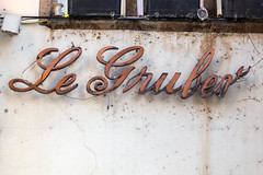 Le Gruber (typetrash) Tags: window wall handwriting typography strasbourg type 3dletter typetrash
