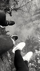 The river #8 (klaudiastach) Tags: trip water forest river shoes 8 nike treetrunk blacknwhite bf goodday