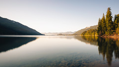 Surrender (John Westrock) Tags: longexposure morning trees reflection nature landscape morninglight washington clear pacificnorthwest canonef2470mmf28lusm kachesslake bwnd1000x canoneos5dmarkiii johnwestrock