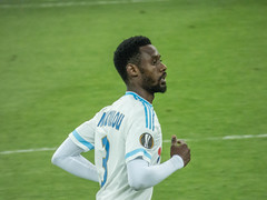 Nicolas N'koulou lors du match OM - Groningen (2-1) (ma_thi_eu) Tags: lumix foot football marseille europa zoom panasonic om stade league olympique vlodrome europaleague fz72