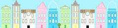 Amsterdam (Chaz Walker) Tags: houses holland dutch amsterdam buildings colours shapes pale simple muted