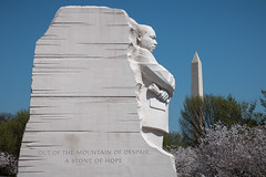 A stone of hope (Seb & Jen) Tags: usa washington districtofcolumbia memorial unitedstates obelisk martinlutherking tidalbasin obelisque tatsunis