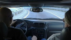roadtrip (Tomitheos) Tags: voyage road trip car highway automobile driving interior roadtrip dvp curve donvalleyparkway backseatdriver