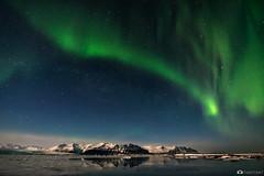 Northern Lights Over Jkulsrln (Fabio tomat) Tags: ice water night stars landscape iceland nikon nightscape lagoon glacier aurora notturna northernlights auroraborealis jkulsrln islanda nikon1424f28ed fabiotomat nikond750